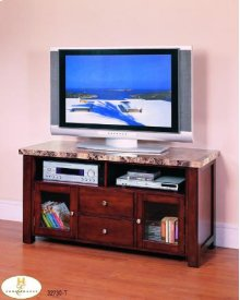 Faux Marble Top TV Stand