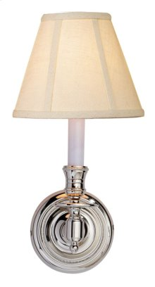Visual Comfort S2110PN-L Studio French Library 1 Light 6 inch Polished Nickel Decorative Wall Light in Linen