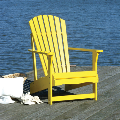 Yellow Adirondack Chair Hidden