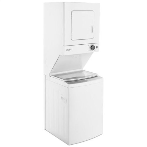 Whirlpool® 1.6 cu.ft, 120V/20A Electric Stacked Laundry Center with 6 Wash cycles and Wrinkle Shield™ - White