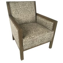 Langley Upholstered Pattern Grey Wood Arm Chair