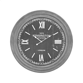 London Wall Clock In Preda Aged Grey