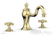 MARVELLE Deck Tub Set - Cross Handles 162-40 - Polished Brass