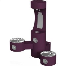Elkay Outdoor EZH2O Bottle Filling Station Wall Mount, Bi-Level, Non-Filtered Non-Refrigerated, Purple