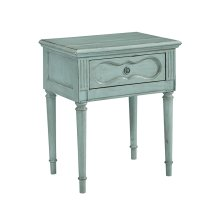 French Blue Cameo Night Table