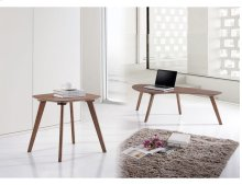 Emerald Home Simplicity End Table Walnut T550-1