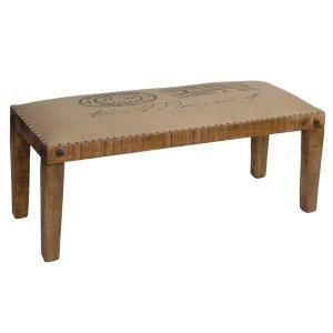 CRESTVIEW COLLECTIONSBengal Manor Mango Wood Burlap Bench
