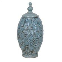 Large Flower Lidded Vase