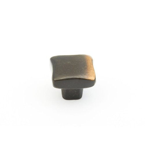 "Vinci, Square Knob, Antique Bronze, 1"" dia"