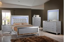 VALENTINO Queen Bed with Lighted Headboard