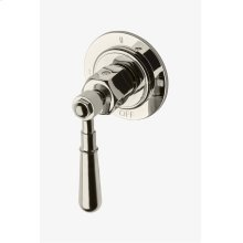 Regulator Three Way Thermostatic Diverter Valve Trim with Metal Lever Handle STYLE: RG3T11