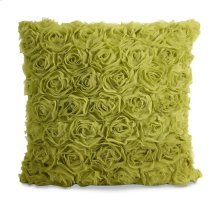Catherine Green Rose Pillow