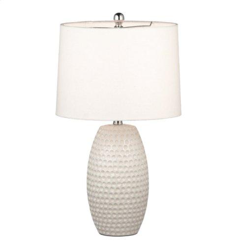Bright White Embossed Circle Lamp. 100W Max.