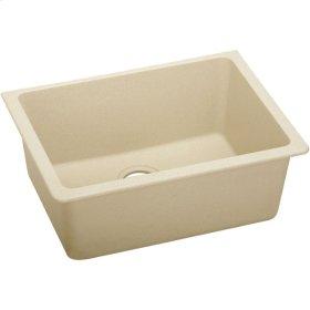 "Elkay Quartz Classic 24-5/8"" x 18-1/2"" x 9-1/2"", Single Bowl Undermount Sink, Sand"