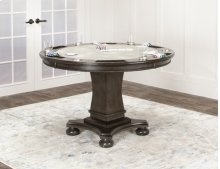 CR-8771  Dining and Poker Table  Reversible Flip Top Gray Wood