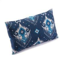 Ikat Pillow 1 Blue & Natural
