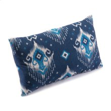 Ikat Pillow 1 Blue & Natural