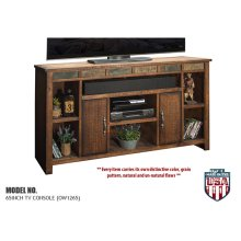 "Legends Old West 65in. TV Console - Width 65.44"",  Height 37.12"",  Depth 17.25"""