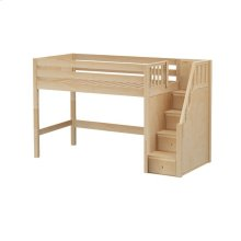 Mid Loft w/ Staircase on End : Twin : Natural : Panel