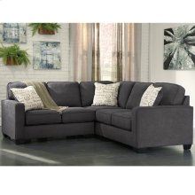 Signature Design by Ashley Alenya 2-Piece Sofa Sectional in Charcoal Microfiber [FSD-1669SEC-2PC-CH-GG]