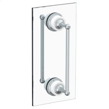 """Venetian 24"""" Double Shower Door Pull/ Glass Mount Towel Bar"""