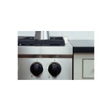 "48"" Gas Range Black Knobs"