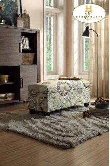 Lift-Top Storage Bench, Floral