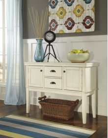 Dining Room Server Arrowtown - White Collection Ashley at Aztec Distribution Center Houston Texas