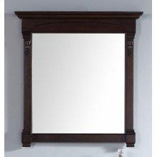 "Brookfield 39.5"" Mirror, Burnished Mahogany"