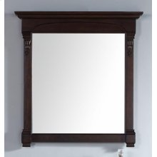 "Brookfield 39.5"" Mirror, Burnished Mahogany"