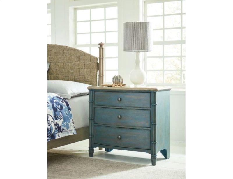 Sundown Accent Chest Blue Litchfield Furniture Collection