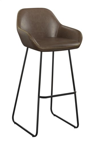 Leland Bar Stool Brown