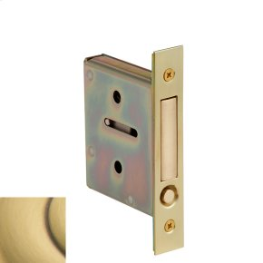 Satin Brass and Brown 8601 Pocket Door Pull