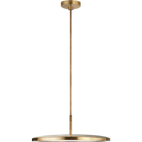 Visual Comfort PB5002NB Peter Bristol Dot LED 10 inch Natural Brass Pendant Ceiling Light