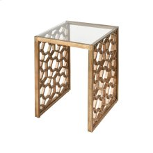 Clio Side Table In Antique Gold