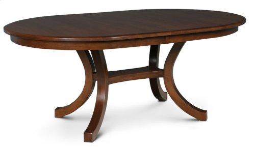 Loft II Oval Table, Solid Top