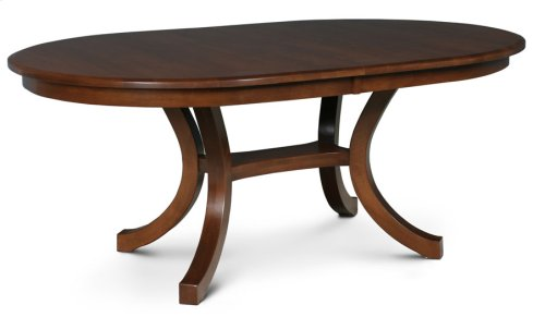 Loft II Oval Table, Solid Top