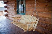 Montana Log Porch Swing Exterior Finish