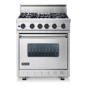 "White 30"" Sealed Burner, Dual Fuel Range - VDSC (30"" wide range with four burners, single oven)"