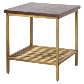Walter KD End Table, Dark Brown