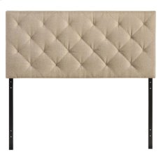 Theodore Queen Upholstered Fabric Headboard in Beige Product Image