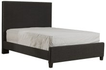 Megan Cal King Bed - Onyx Linen
