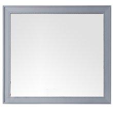 "Bristol 44"" Rectangular Mirror, Silver Gray"
