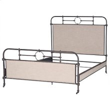 Berkley Metal Qn Bed-Palm Ecru/Aged Iron