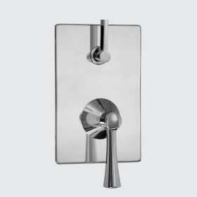 E-Mini Thermostatic - Integrated Rectangle Plate - Trim only with Chicago handle