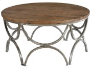 Bengal Manor Mango Wood and Steel Round Cocktail Table Product Image