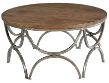 Bengal Manor Mango Wood and Steel Round Cocktail Table