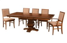 """42/60-2-12"""" Leaf **6/4 Thick Top** Rect. Pedestal Table"""
