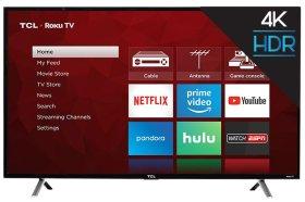 "TCL 49"" Class 4-Series 4K UHD HDR Roku Smart TV - 49S405"