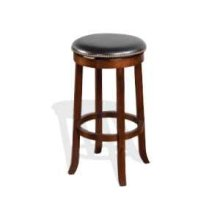 "30""H Cappuccino Swivel Stool w/ Cushion Seat"